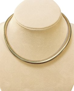 Cartier Authentic Cartier 18K white and yellow gold Tubogas choker chain, 16