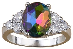 Mystic Fire Rainbow Topaz Sterling Silver Ring