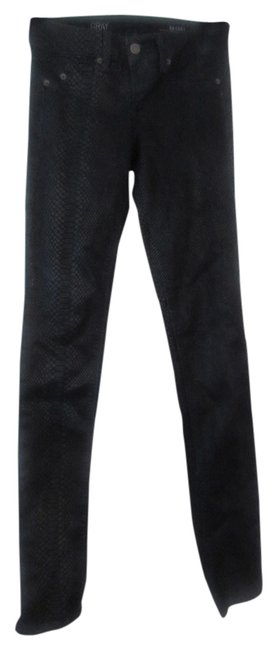 Saks Fifth Avenue Lizard Straight Leg Jeans-Coated