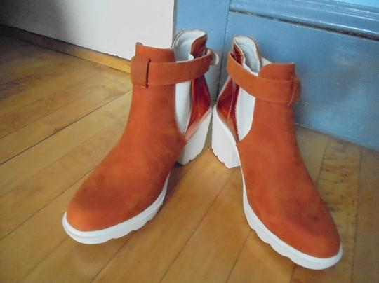 SWEAR London Ankle Leather Suede orange & white Boots Image 1