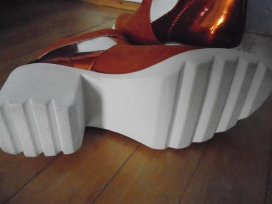 SWEAR London Ankle Leather Suede orange & white Boots