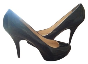 Enzo Angiolini Patent Leather Stiletto Black Pumps