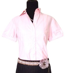 680ad136 Lands' End Pink Button-down Top Size 4 (S) - Tradesy