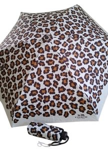 Coach Coach mini umbrella ocelot print