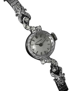 Longines 1971 Longines Vintage Ladies Dress Watch - 14K White Gold & Diamonds