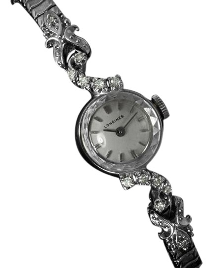 Preload https://item4.tradesy.com/images/longines-silver-1971-vintage-ladies-dress-14k-white-gold-and-diamonds-watch-5878678-0-0.jpg?width=440&height=440