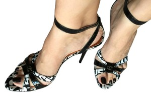Just Cavalli Black and white Sandals