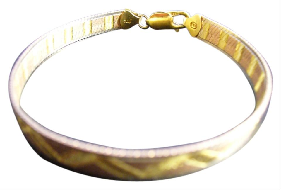 Sterling with Gold Overlay  Sterling-silver-925-fmc-bracelet-with-gold-overlay-made-in-italy Bracelet