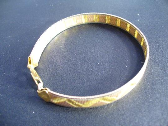 Other STERLING-SILVER-925-FMC-BRACELET-WITH-GOLD-OVERLAY-MADE-IN-ITALY
