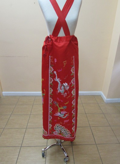 Red Color Kwa Qun 5 Wedding Dress