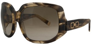 DSquared DSquared Olive Tortoise Oversized Square Full Rim Sunglasses
