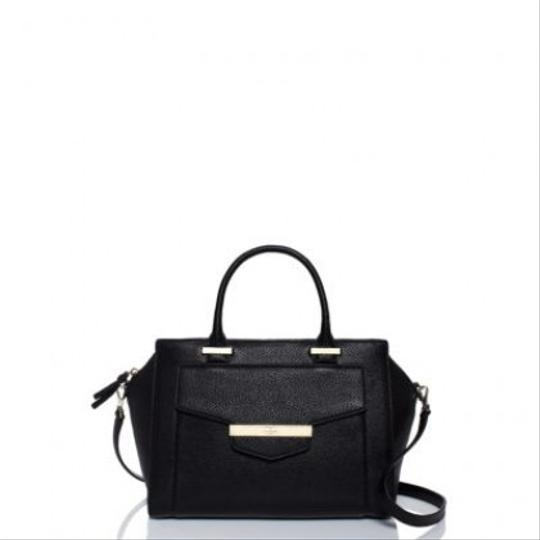 Kate Spade Leather Shoulder Gold Strap Tote New Gold Hardware New With Tags Classic Satchel in Black