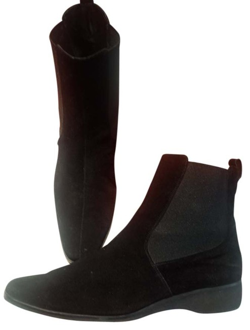 Item - Black Suede Ankle Boots/Booties Size US 9 Regular (M, B)