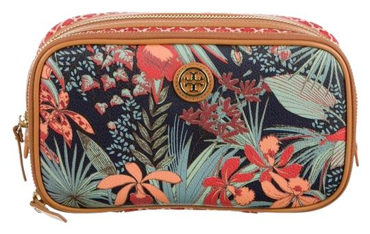 Preload https://item5.tradesy.com/images/tory-burch-robinson-orange-green-floral-tropical-print-cosmetic-multicolor-leather-clutch-5878969-0-0.jpg?width=440&height=440