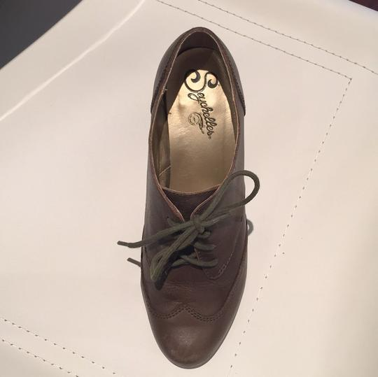 Seychelles Leather Oxford Fall Green Boots