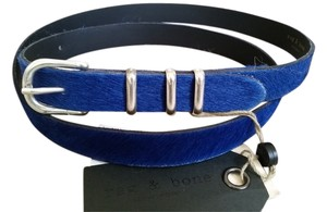 Rag & Bone Rag&Bone blue calf hair belt sz L
