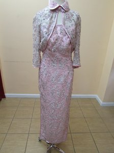 Light Pink/Silver Qi Pao Hkmm 563 Dress