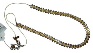 Kate Spade Kate spade New york Hip Stitch long necklace clear/ citron