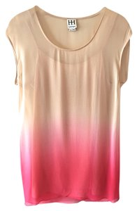 Haute Hippie short dress Ombre - Beige & Pink on Tradesy