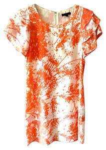 Rachel Zoe short dress Orange & White Silk on Tradesy