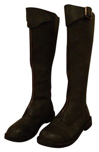 Jeffrey Campbell Leather Knee High black Boots