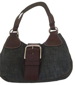 Prada Satchel in Denim/ brown leather