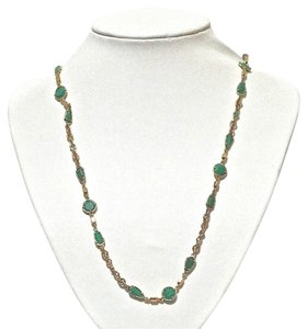 Kate Spade Kate Spade New York Green Coated Confetti Scatter Long Necklace