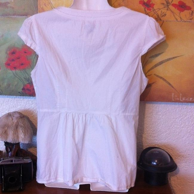 Anthropologie Odille Blouse Button Down Shirt White Image 2