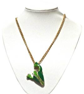 Kate Spade Kate Spade New York Gold Green Frog Long Necklace
