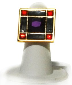 Kate Spade Kate Spade New York 12k Gold plated Lewitt Squares Ring Size 6