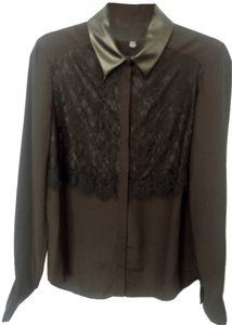 Prabal Gurung for Target Button Down Shirt Black