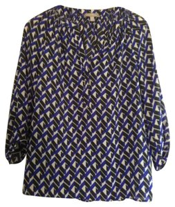 Banana Republic Top Blue, black & white