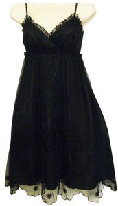 Betsey Johnson Empire-waist Knee-length Lace Slip-dress Dress
