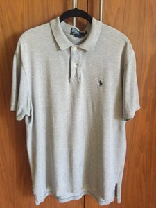 Ralph Lauren Men's Ralph Lauren Polo Collared Short Sleeve Grey Golf Shirt Size L