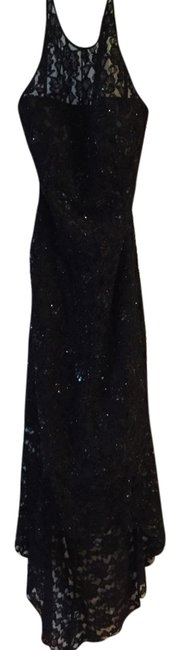 Sean Collection Classic Beaded High Low Halter Neckline Fancy Cocktail Prom Homecoming Bridesmaid Dress