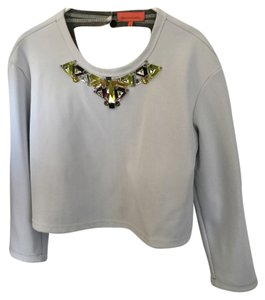 MANNINGCARTEL AUSTRALIA Top WHITE WITH EMBELLISHMENTS