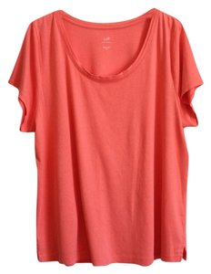 J. Jill Pima Cotton T Shirt Coral