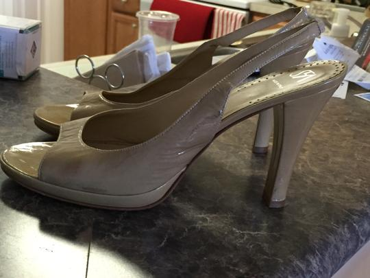 Saks 5th Ave Tan leather Pumps