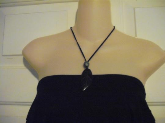 Other Boho Chic Leaf Pendant Necklace Faux Suede
