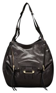 Kooba Leather Silver Hardware Boho Shoulder Bag