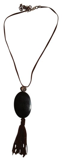 Other 70's Style Oval Pendant Necklace Suede Fringe Chinese Style Ball