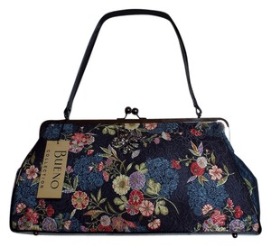 Bueno Collection Vintage Style Floral Design Shoulder Bag