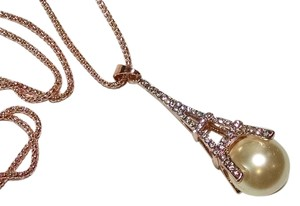 Betsey Johnson Betsey Johnson Eiffel Tower Faux Pearl Necklace New 28 in. Jewelry J1264