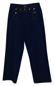 Chanel Vintage Sailor High-waisted Trouser/Wide Leg Jeans-Medium Wash
