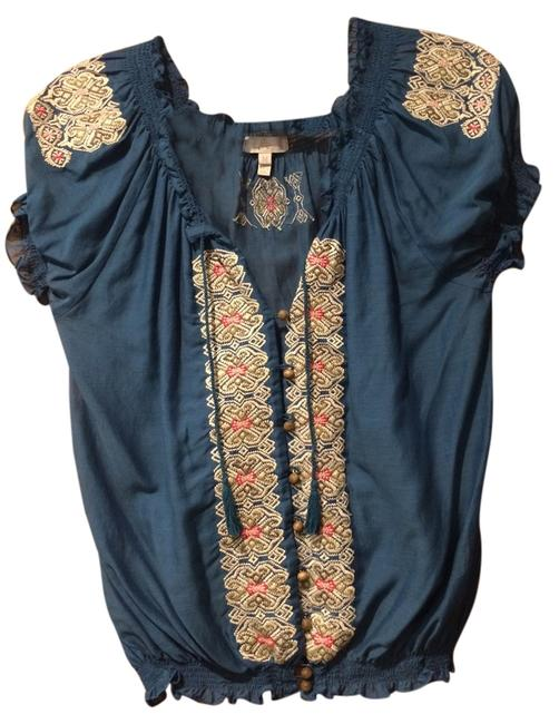 Preload https://item4.tradesy.com/images/joie-blue-blouse-size-8-m-5883553-0-0.jpg?width=400&height=650