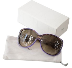 Dior Christian Dior Cat Eye purple and animal print sunglasses