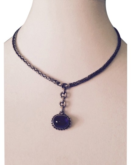 Preload https://item5.tradesy.com/images/purplesilver-necklace-5883754-0-0.jpg?width=440&height=440