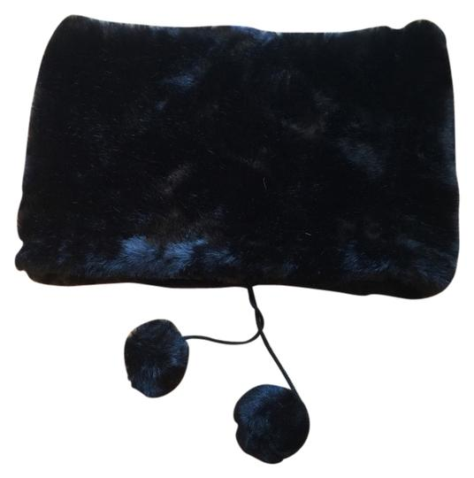 Other Faux Fur Infinity Scarf With Pom Pons