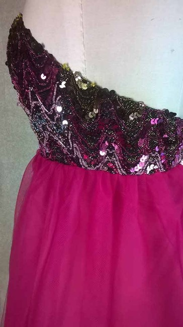 Lisa Nieves Cocktail Prom Sequin Party Wedding Night Short Pink Colorful Girly Chic Tulle Princess Prom Empire Waist Bridal Dress