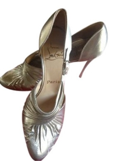 Preload https://item5.tradesy.com/images/christian-louboutin-metallic-silver-bling-formal-shoes-size-us-55-5884-0-0.jpg?width=440&height=440
